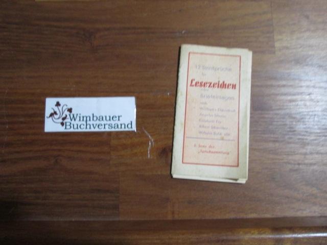 12 Sinnsprüche für Lesezeichen oder Briefeinlagen nach: Hesse, Hermann und