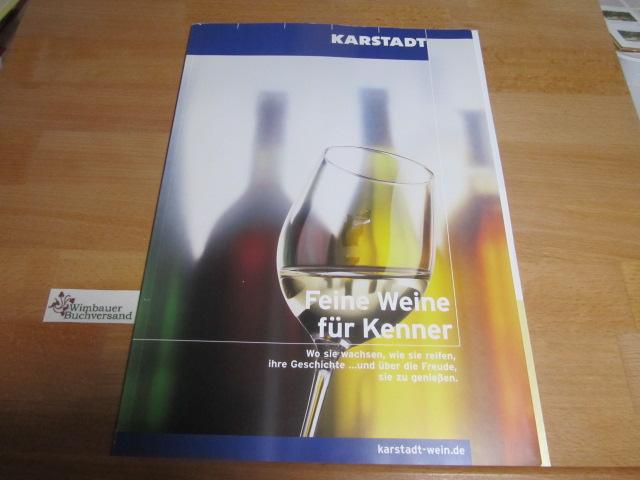 Katalog: Feine Weine für Kenner: Karstadt :