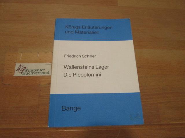 Erläuterungen zu Friedrich Schiller, Wallensteins Lager, Die: Neis, Edgar (Verfasser)
