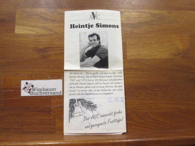 Original Autogramm Heintje Autogramm Autograph Signiert Signed Signee Von Simons Heintje Signed By Author S Manuskript Nbsp Nbsp Papierantiquitat Wimbauer Buchversand