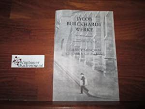Verlagsprospekt: Jacob Burckhardt Werke : Kritische Gesamtausgabe: Beck, C.H. :