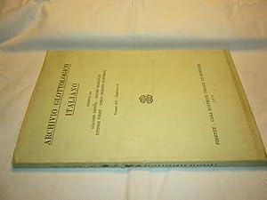 Archivo Glottologico Italiano. Volume LVI. Fascicolo II: Devoto, Giacomo, Bruno