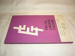 English Language Teaching. Volume XXVI, No.1, October: Lee, W.R. (Ed.)