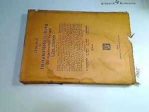 1924, Zeitschrift für Immunitätsforschung u. experimentelle Therapie. Tl. 1 (Originale), ...
