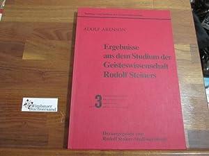 Ergebnisse aus dem Studium der Geisteswissenschaft Rudolf: Arenson, Adolf :