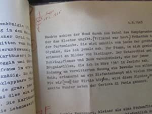 Neunte Sardinienreise : Typoskript, korrigiertes Typoskript und: Jünger, Ernst :