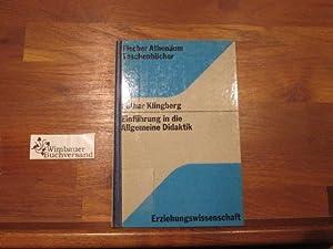 Einführung in die allgemeine Didaktik : Vorlesungen.: Klingberg, Lothar :