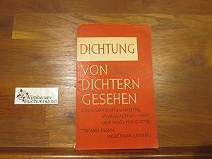 Dichtung von Dichtern gesehen : 3 Essays.: Hofmannsthal, Hugo von,
