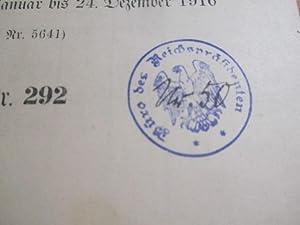 Reichs-Gesetzblatt, 1916, Nr 141-292 *Exemplar der Reichspräsidenten: Reichsministerium des Innern