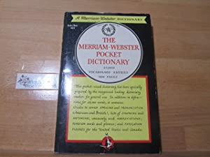 The Merriam - Webster Pocket Dictionary