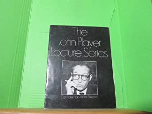 The John Player Lecture Series: Carl Formean