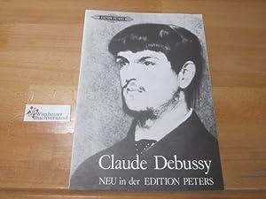 Katalog: Claude Debussy neu in der Edition: Edition Peters :