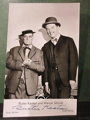 Hand signed Photo Postcard / Handsignierte Photopostkarte: Keaton, Buster und