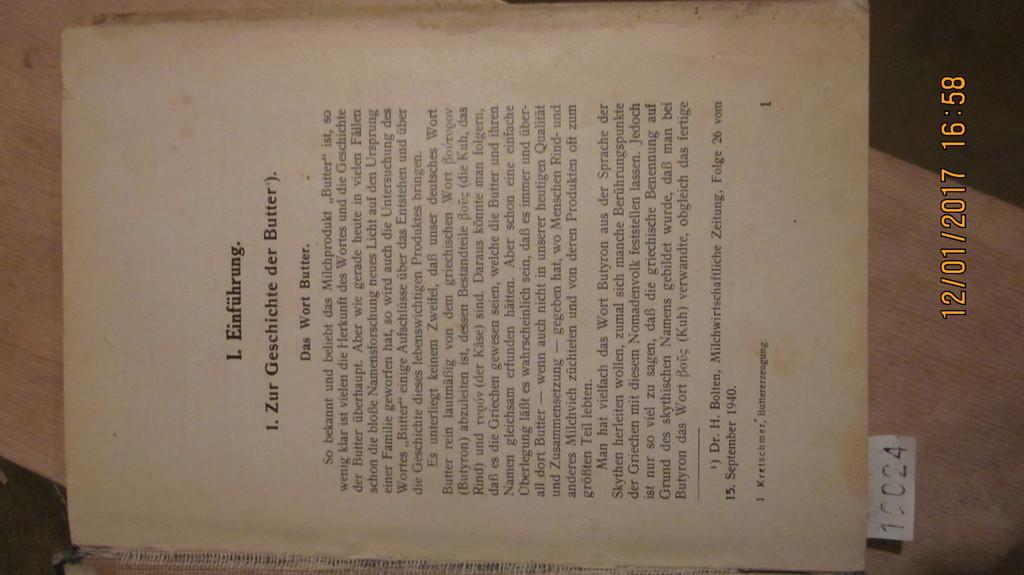Handbuch für Buttererzeugung: Kretschmer