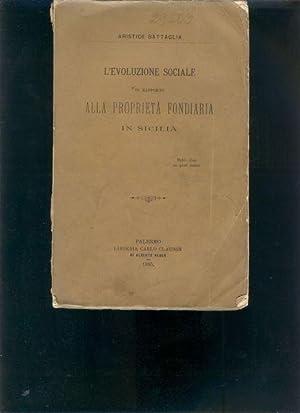 L Evoluzione Sociale in Rapport alla Proprieta: Aristide Battaglia
