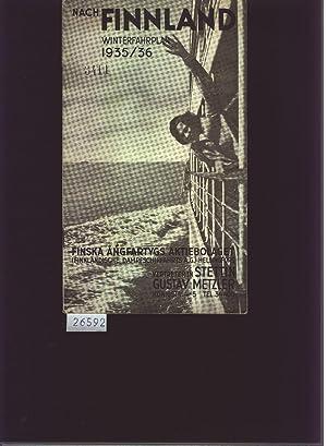 Nach Finnland Winterfahrplan 1935/1936: Finnländiche dampfschiffahrts AG
