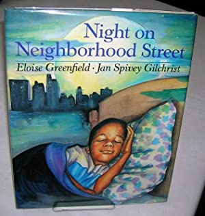 NIGHT ON NEIGHBORHOOD STREET.: Greenfield, Eloise.