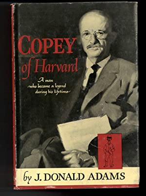 COPEY OF HARVARD: Adams, J. Donald