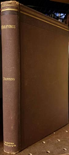 Parleyings with Certain People of Importance in Their Day: Browning, Robert