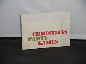 Christmas Party Games, Printed at the Oxford