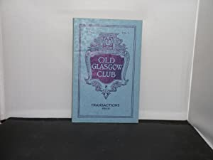 Old Glasgow Club Transactions 1934/35 Articles include: Various