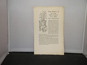 Golden Cockerel Press Publicity Sheet circa 1948: From Reviews of two recent Golden Cockerel Pres...