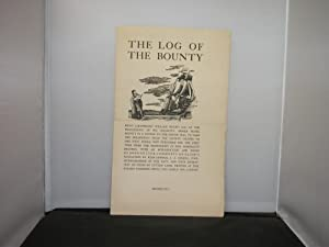 Golden Cockerel Press Prospectus The Log of the Bounty Illustrated by Lynton Lamb