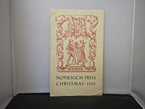 Nonesuch Press Christmas 1933