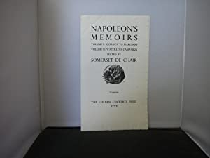 Golden Cockerel Press Prospectus for Napoleon's Memoirs Edited by Somerset De Chair Illustrated b...