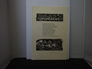 Hellmuth Weissenborn - Illustrated verse (in German) from Goethe's