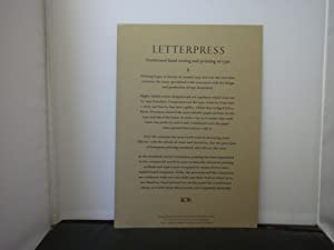 The Debonair Press - Letterpress : Traditional hand setting and printing of type, A keepsake desi...