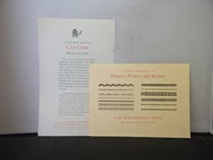 The Serendipity Press - Two items of ephemera : A First Specimen of Printer's Flowers and An Invi...