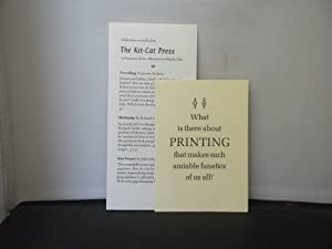 The Kit-Cat Press - List of Publications and What is there about printing that makes such amiable...