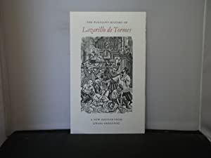 Gwasg Gregynog - Prospectus for The Pleasant History of Lazarillo de Tomes illustrated with woodc...