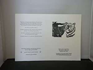 Black Cat & Camel Press - Prospectus for The Tiger's Bride by Angela Carter, illustrated with lin...