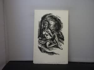The Vine Press - Sheet from The Cave by Marjorie Sissons (1957) with 3 engravings by Frank Martin