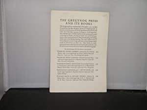 The Gregynog Press and Its Books (circa 1935/1938)