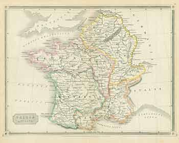 Map Of Spain Portugal And France.Gallia Antiqua Map Of France Spain And