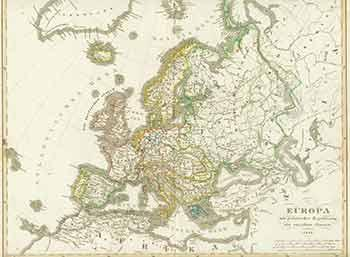 Europa 19th Century Map Of Europe By F V Stulpnagel Engraver