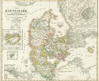 Daenemark 19th Century Map Of Denmark By A Stieler Engraver