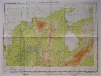 Map of Lake Maracaibo, Colombia-Venezuela. by USAF Aeronautical ...