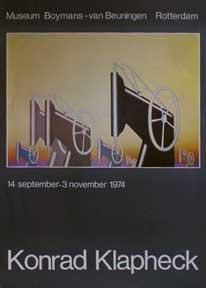 Sewing Machines. Klapheck, Konrad. Good Exhibition poster. 64 x 44 cm. Offset.