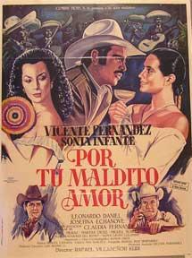 Por Tu Maldito Amor Movie Poster Cartel De La Película De