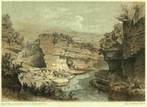 Jonction de la valserine au Rhône à: Guesdon, Alfred.