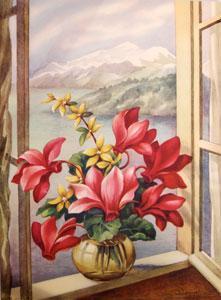 Window Florals. (No.s 1216-7 thru 1216-10).: Bender, S. L.