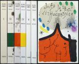 Joan Miró. Der Lithograph. Bände 1-6 (I, II, III, IV, V & VI); die komplette Reihe ...