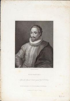 Cervantes. After the Spanish print engraved by D. F. Selma. Under the supervision of the Society ...
