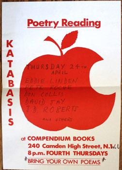 Katabasis Poetry Reading at Compendium Books. Thursday 24th April. Eddie Linden, Pete Roche, Don ...