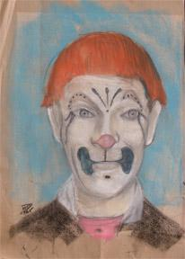 Portrait of a clown.