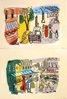 New York Vignettes by Nikolas Takis.: Donald Art Co., Inc.; after Nikolas Takis.
